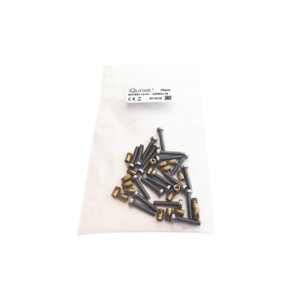20 pcs M3x20 Hex Socket Cap SS Screw