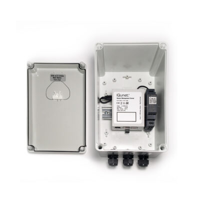 IP67 Server Box with 5V iQunet Server (opened)